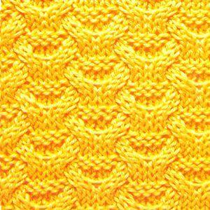 Плотный узор спицами плетенка