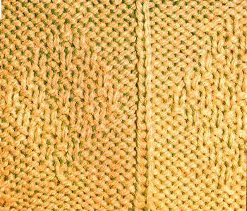 Плотный узор спицами ромбы из мелкого риса