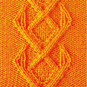 Плотный узор спицами полосы из ромбов