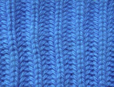 Плотный узор спицами Английская Резинка спицами