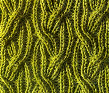 Плотный узор спицами косы резинкой
