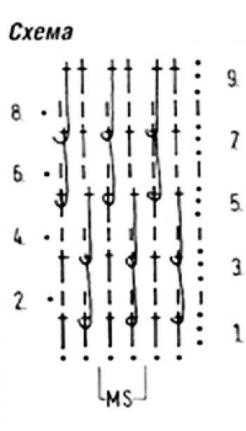 Схема: Плотный узор крючком № 3458