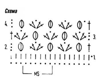 Плотный узор крючком № 6455