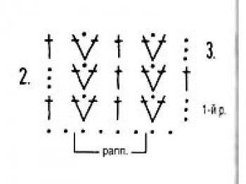 Плотный узор крючком № 1448