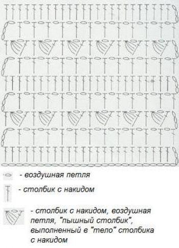 Рельефный узор крючком № 6