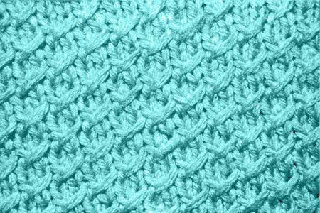 Рельефный узор спицами Мелкая клетка