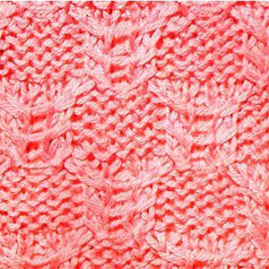Рельефный узор спицами квадраты с перевитыми петлями