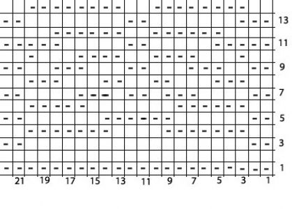 Рельефный узор диагонали по квадратам