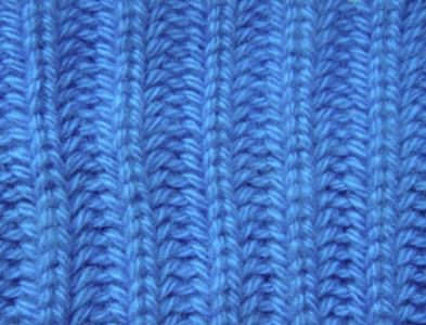 Рельефный узор спицами Английская резинка