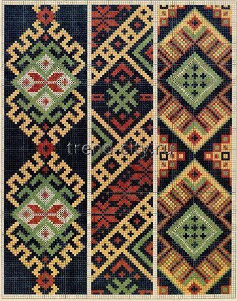 Схема вышивки геометрических орнаментов