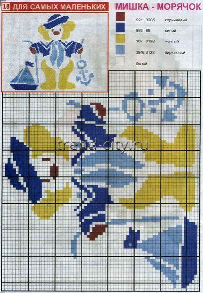 Схема вышивки морячок