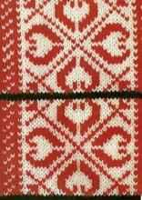 Жаккардовый узор спицами № 23