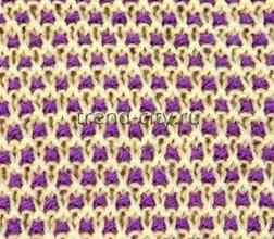 Многоцветный узор спицами № 18