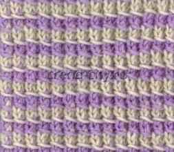 Многоцветный узор спицами № 5