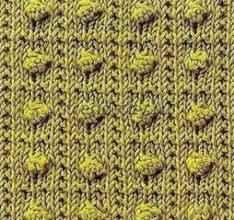 Объемный узор спицами - Блоки с шишечками