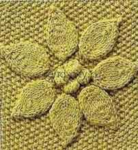 Объемный узор спицами - Цветок