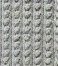 Объемный узор спицами - Резинка спицами с шишечками