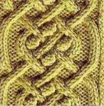 Объемный узор спицами - Шишечки и косы