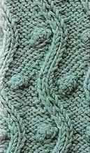 Объемный узор спицами - Шишечки и волна