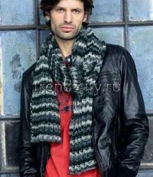 мужской шарфы спицами описание и бесплатные схемы вязания моделей