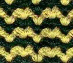 Многоцветный узор крючком № 1