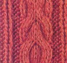 Плотный узор спицами сложная коса