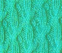Плотный узор спицами диагональные косы