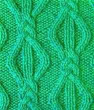 Плотный узор спицами косы с ромбами