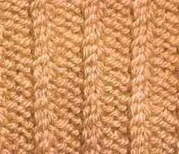 Плотный узор спицами плетешок