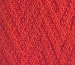 Плотный узор спицами зигзаг с путанкой
