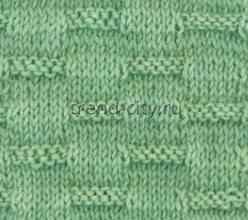 Простой узор спицами - Узор штрихи