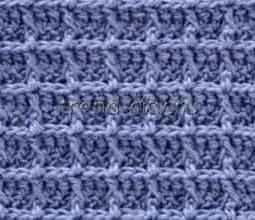 Рельефный узор крючком схема