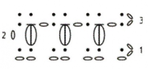 Рельефный узор крючком № 3
