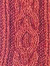 Рельефный узор спицами сложная коса