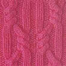 Рельефный узор спицами декоративная коса