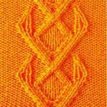 Рельефный узор полосы из ромбов