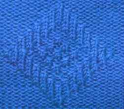 Рельефный узор спицами два ромба