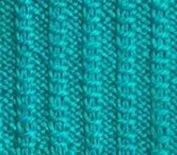 Рельефный узор спицами фантазийная резинка