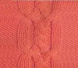 Рельефный узор спицами переплетенные жгуты