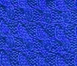 Рельефный узор спицами № 81