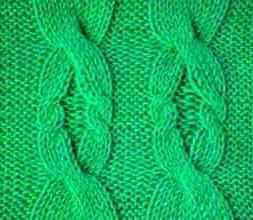 Рельефный узор спицами № 82