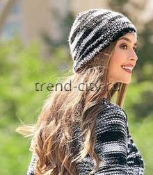 Женские шапки спицами со схемами и описанием