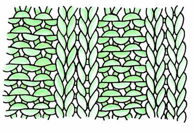 Резинка спицами схема