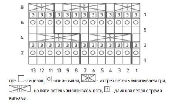 prostye uzory spicami 14 shema
